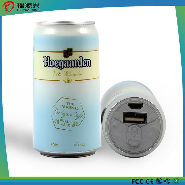 New creative soft drinking 2600mAh power bank