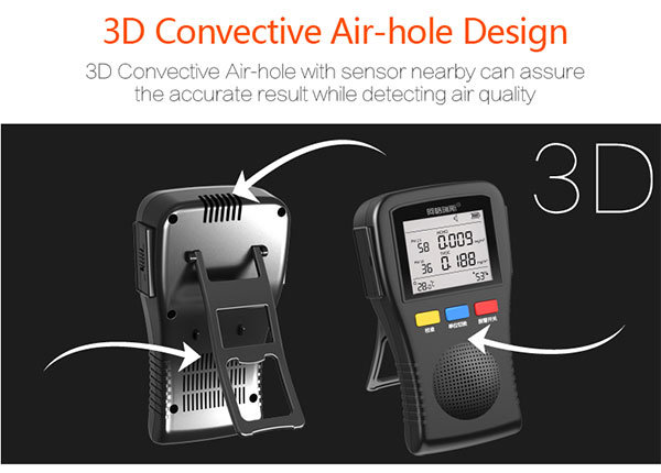 Multifunctional Particle Counter Air Detector for Formaldehyde Tvoc Pm2.5