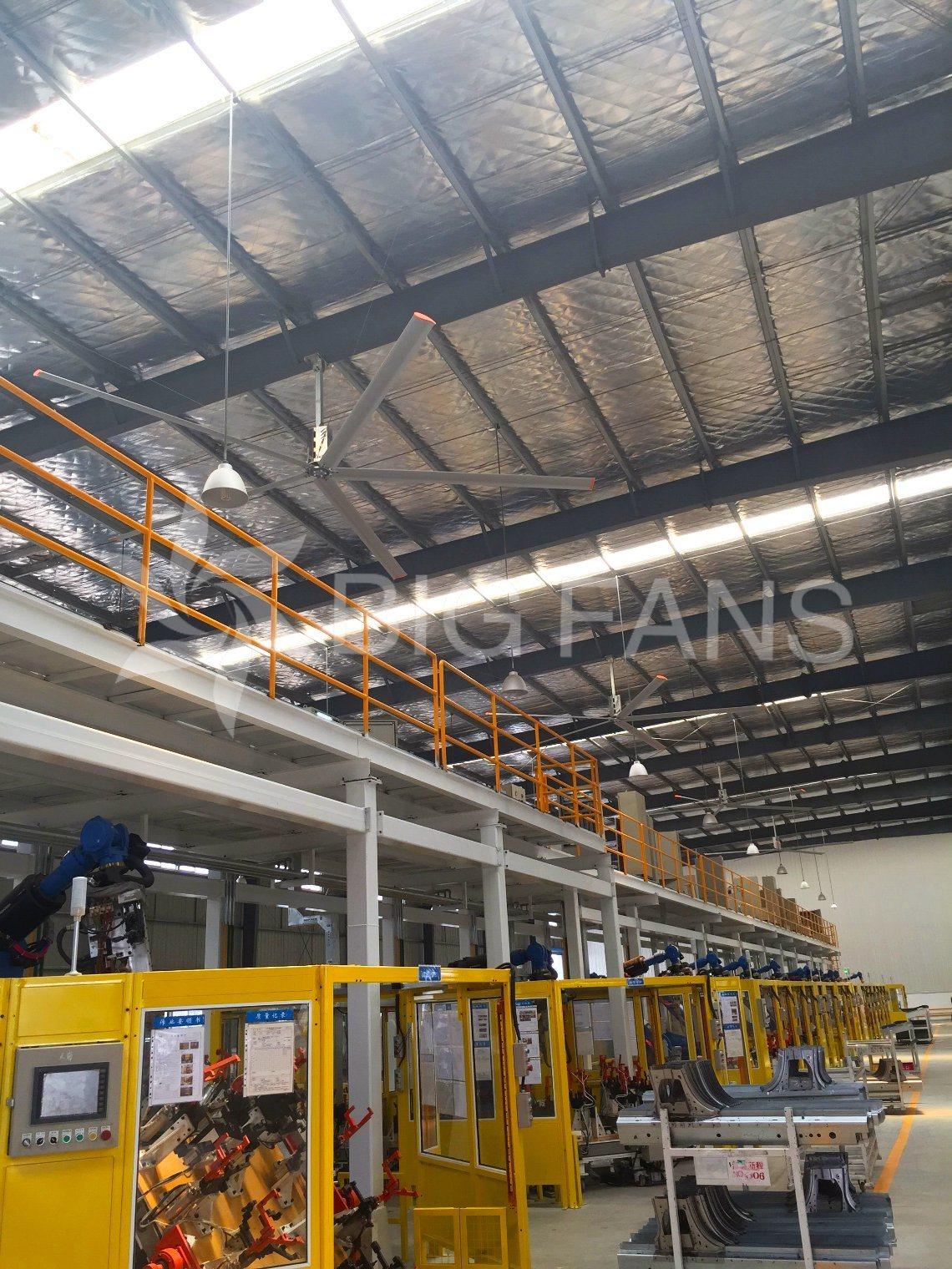 Large Ceiling Fan Hvls Automatic Industrial Giant Ceiling Fan / Fan of Ceiling/7.4m (24.3FT)