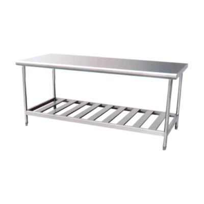 Assembling Stainless Steel Work Table with Overshelves (CZ120TS)