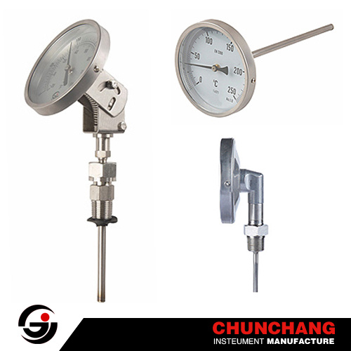 All Stainless Steel Case, Ecnomic Bimetal Thermometer