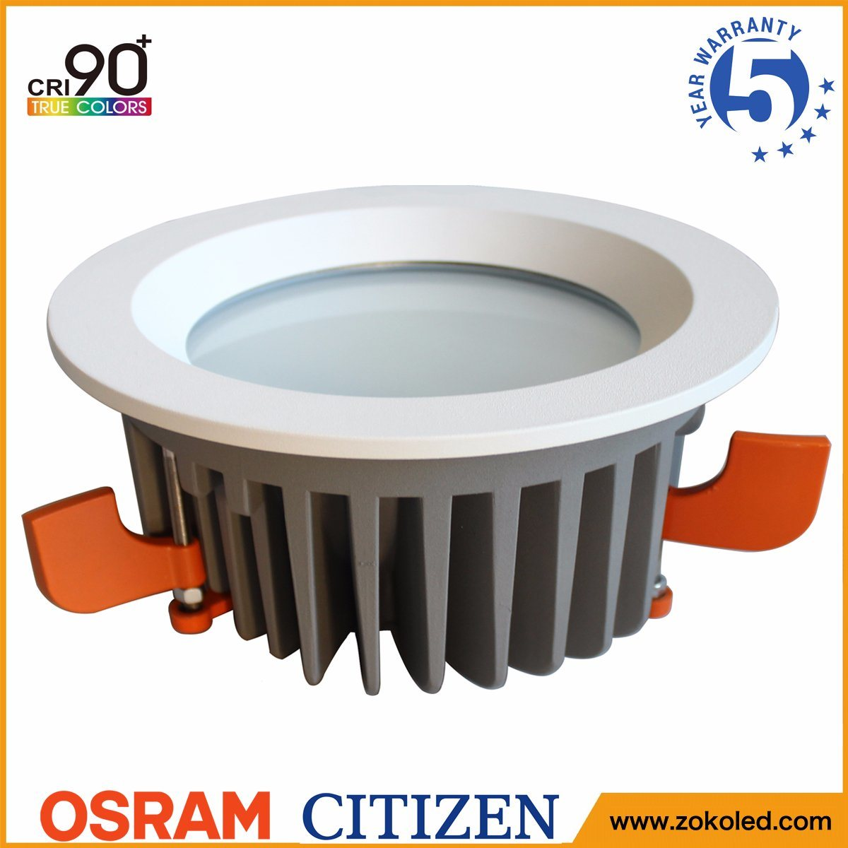 Energy Saving 60W Osram COB LED Down Light Indoor Lighting with 5 Years Warranty