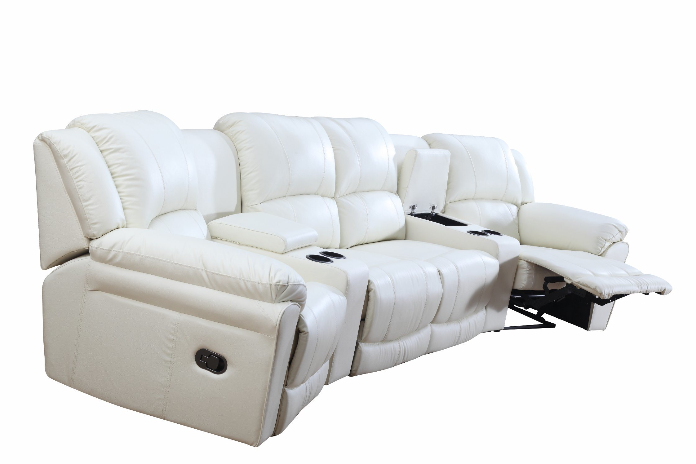 Home Cinema Leather Sofa for Modern Sofa with Recliner Sofa