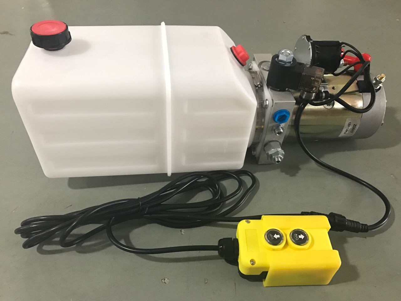 DC 12V 1.6kw Single Acting Hydraulic Power Unit