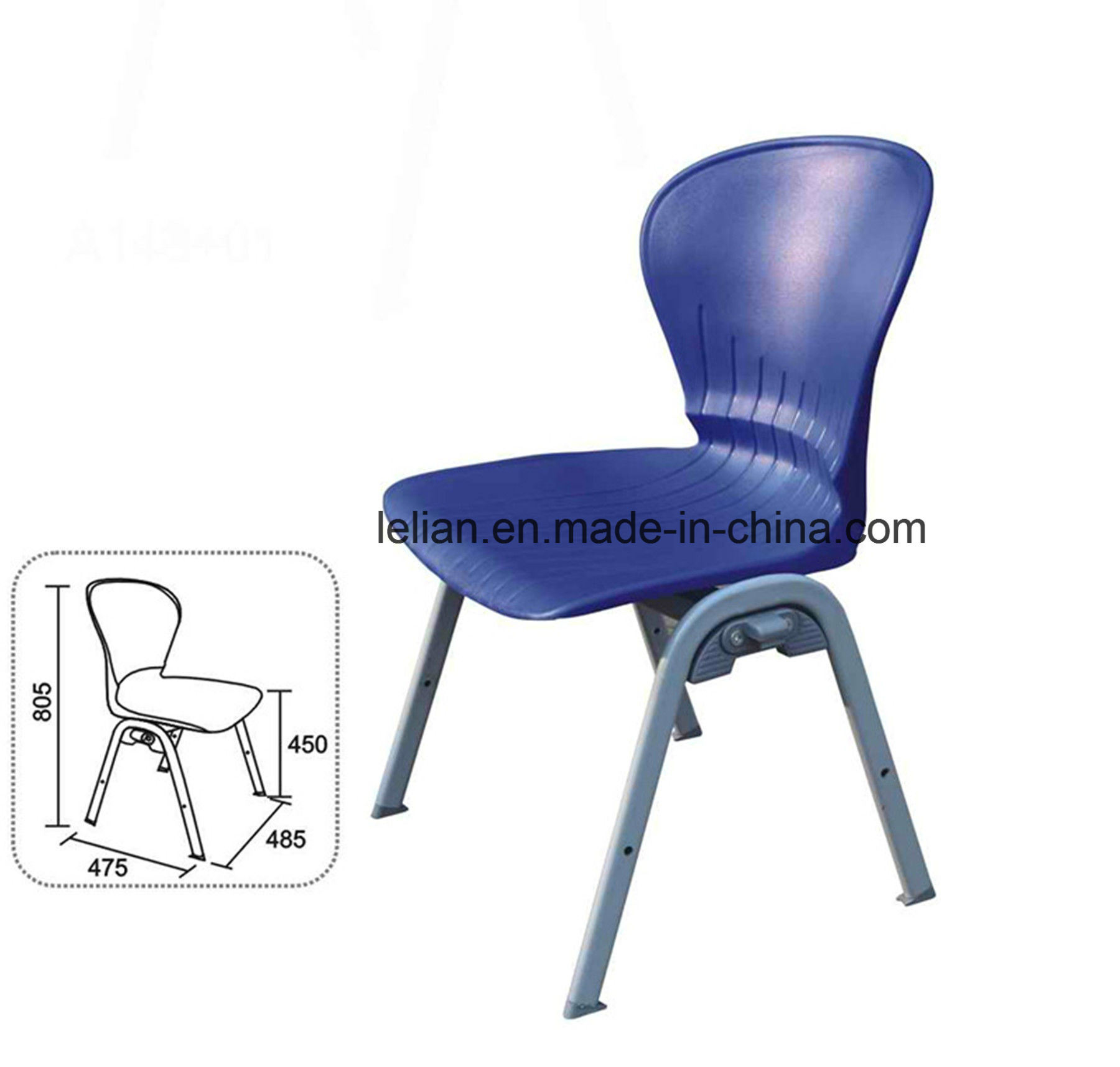 Hercules Series 551 Lb. Capacity Blue Stack Chair (LL-0008)