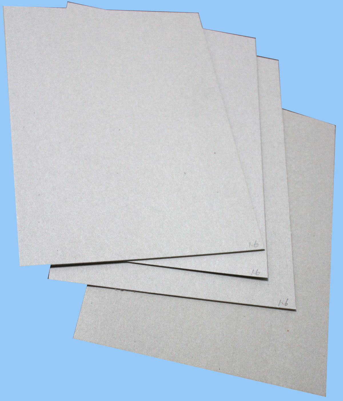 Grey Bookbinding Chip Board Recycled