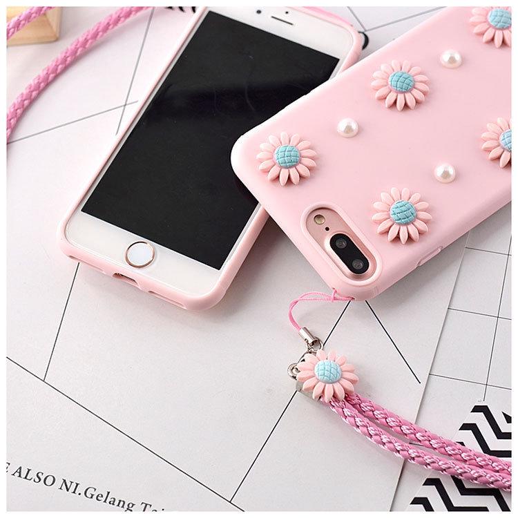 Pink Cute Design TPU Phone Case for iPhone 7 Plus