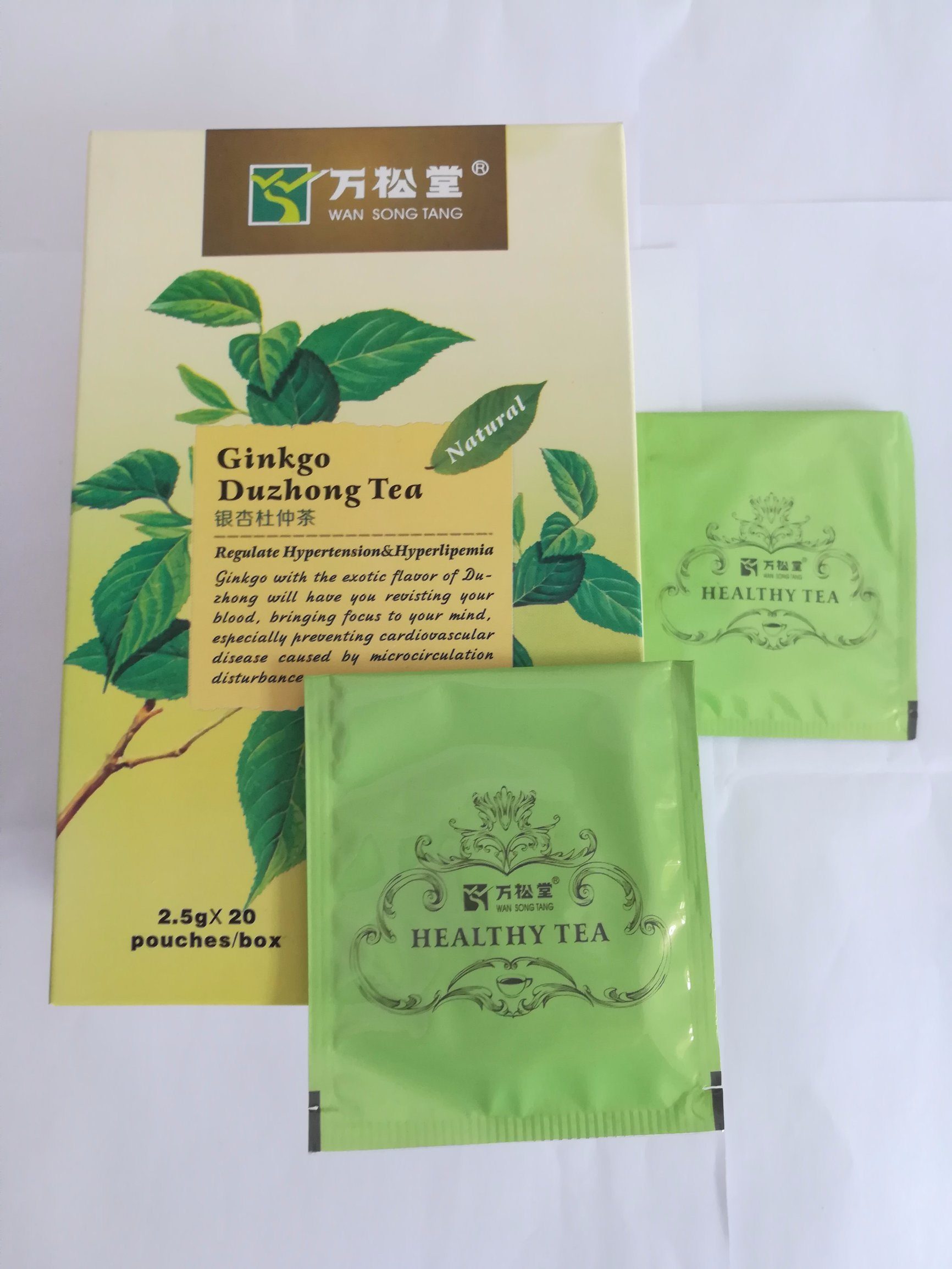 Balance Blood Tea Duzhong Ginko Tea OEM Private Lables