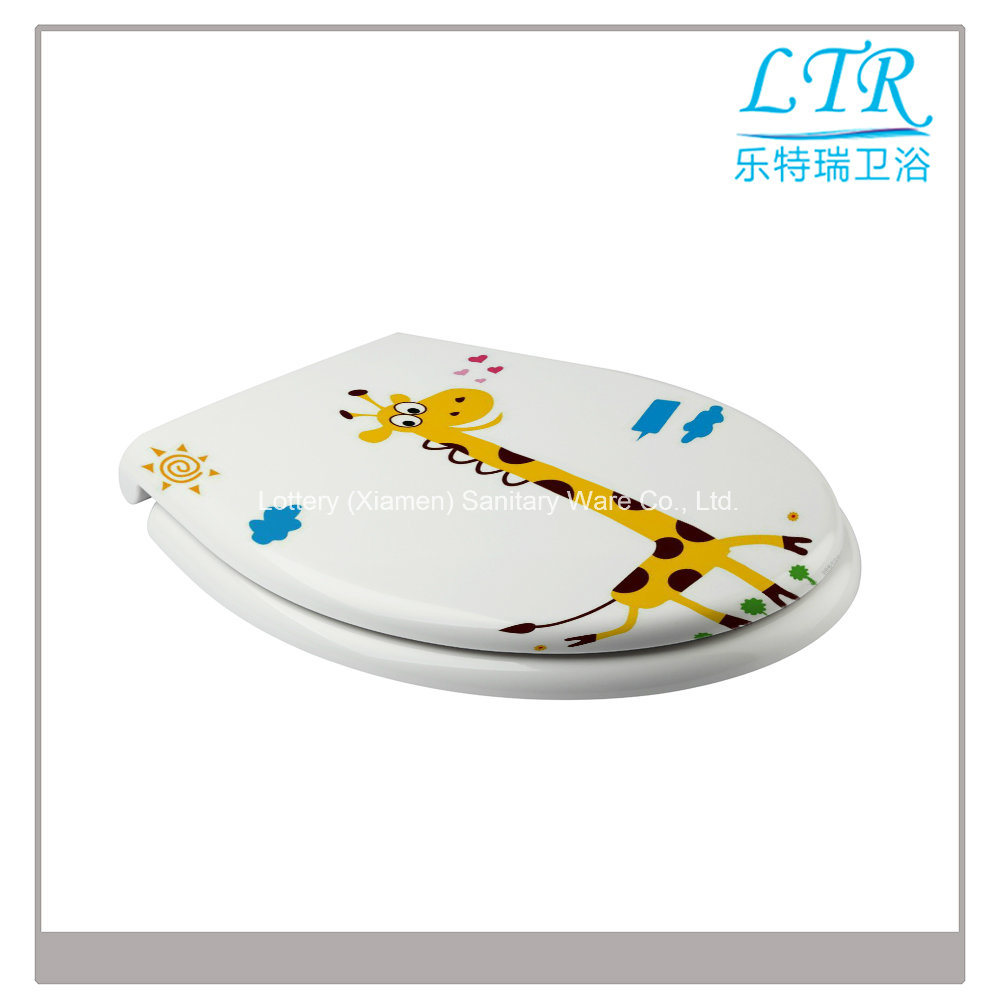 Slow Close Beautiful Design Sanitary Toilet Seat with Giraffe Pattern