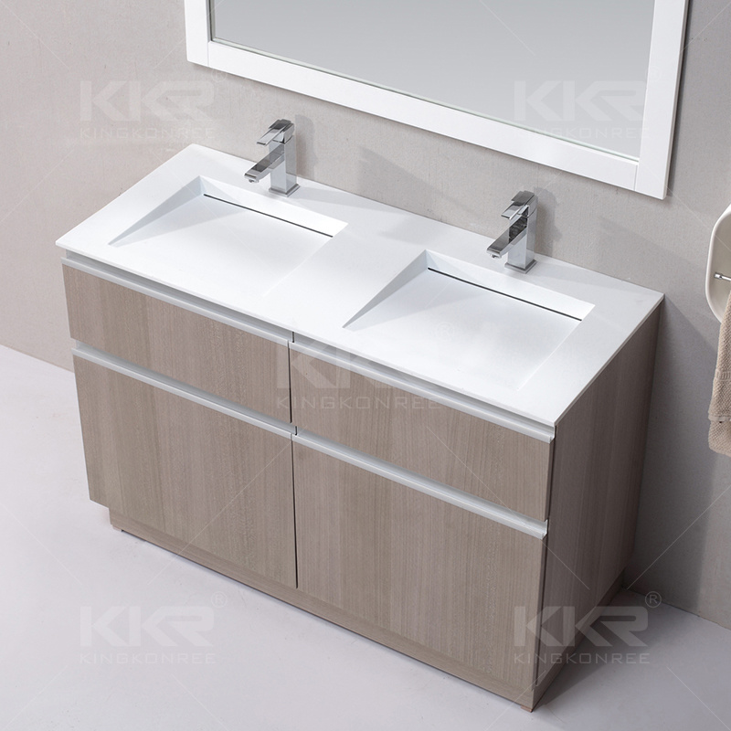 Sanitary Ware Solid Surface Stone Bathroom Cabinet Wash Basin (B1705221)