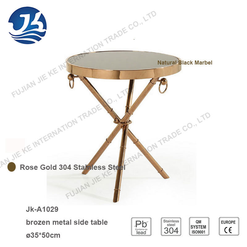 Factory Supply Classical Style Bronze Metal Round Side Table