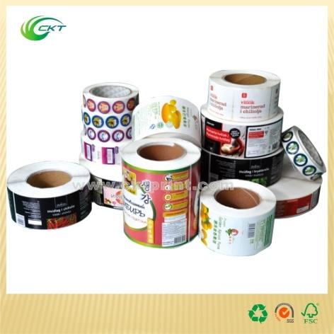 Custom Metallic Gold Label Printing with Matt Lamination (CKT-LA-455)