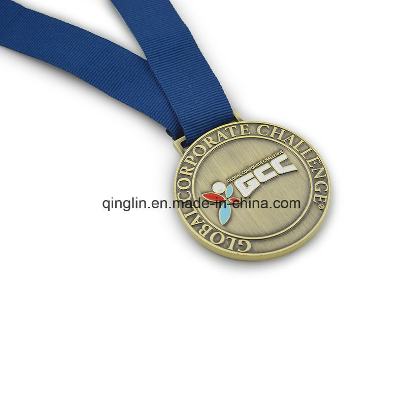Global Corporate Challenge Medals with Logo Ang Ribbon