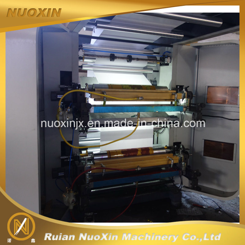 130mm/Min 4 Colour Plastic Film Flexographic Printing Machine