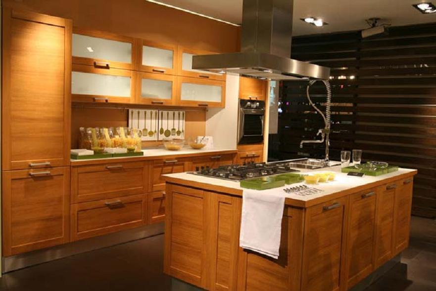 China modern solid wood kitchen cabinet china kitchen for Modern wood kitchen cabinets