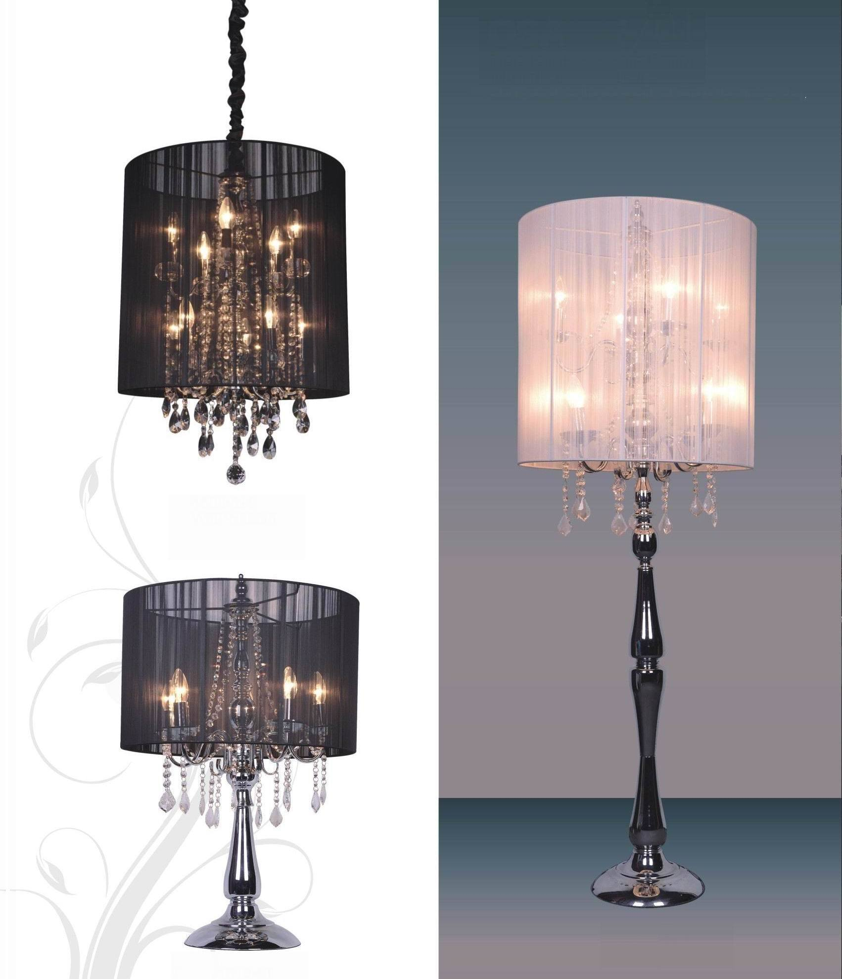 Crystal chandelier floor lamp in Floor Lamps - Compare Prices