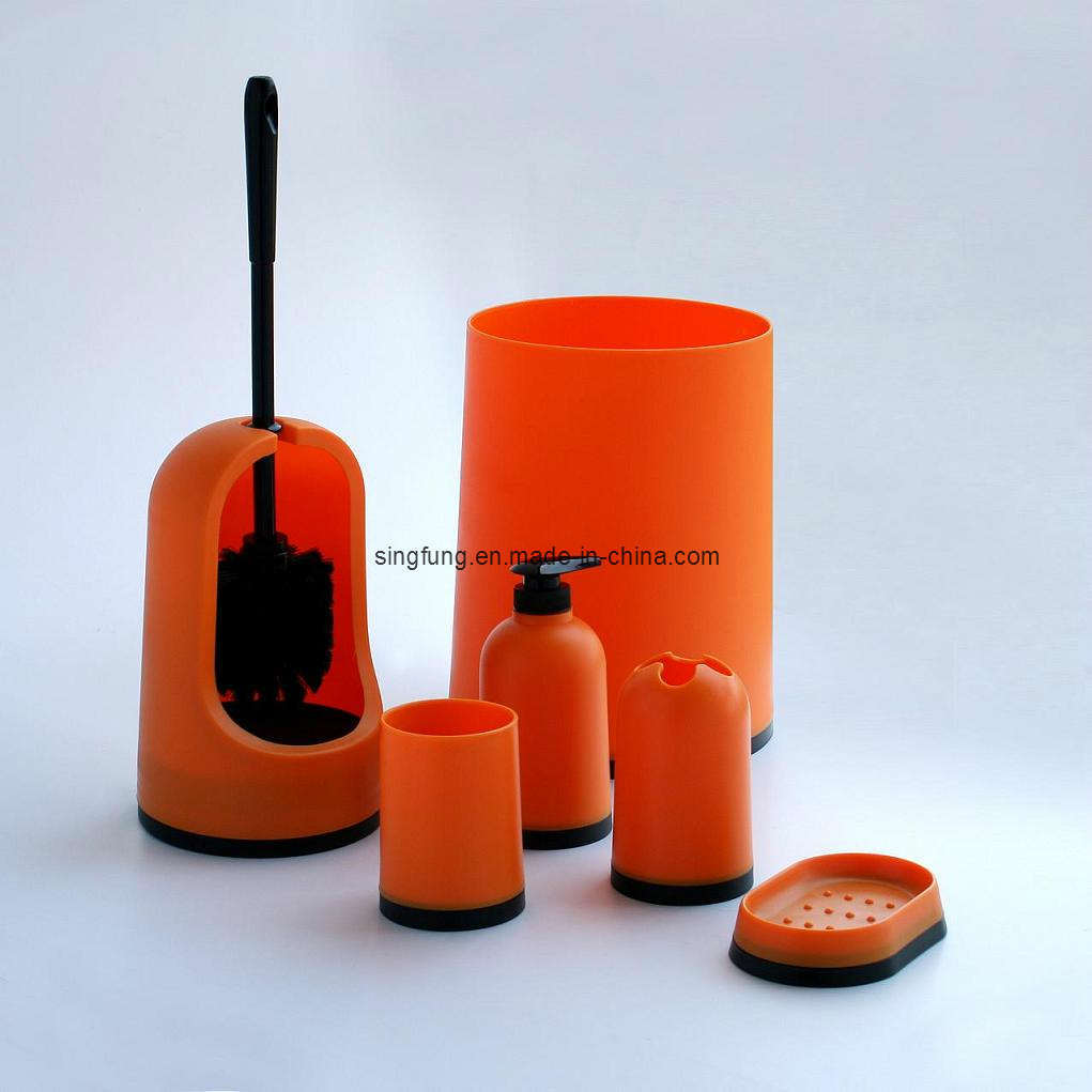 China Bathroom Set Sbs10 Orange China Bathroom Set Soap Dispenser
