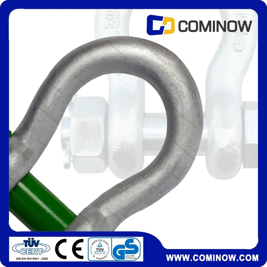 Hot DIP Galv. G2130 U. S Type Drop Forged Bow Shackle
