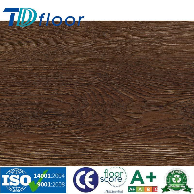 Classic Oak Registered Emboss Wood Design PVC Vinyl Flooring