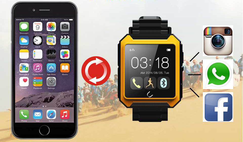 Genuine IP68 Waterproof Shockproof Dustproof Smart Watch