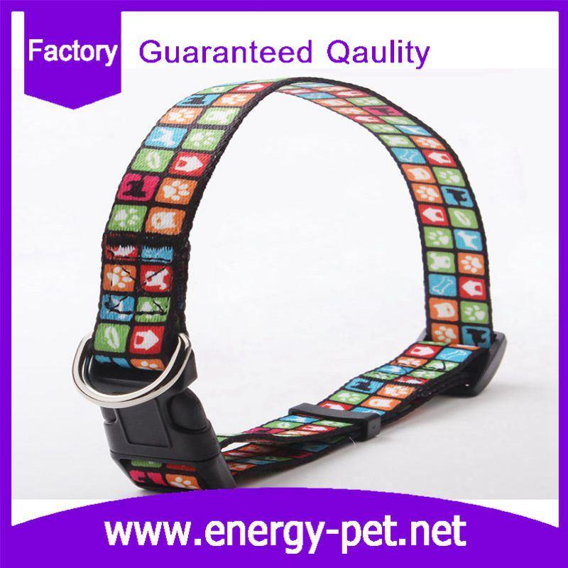 Customized Woven Pattern Cute Cat Collar Dog Collar