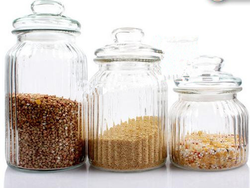 Glass Storage Jar with Glass Lid