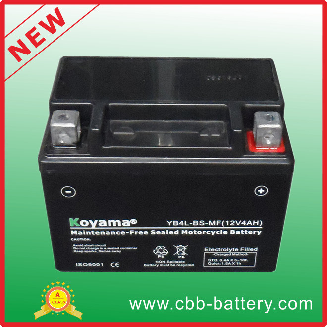 Sealed Yb4l-BS Mf Motorcycle Battery 12V4ah Motorcycle Parts