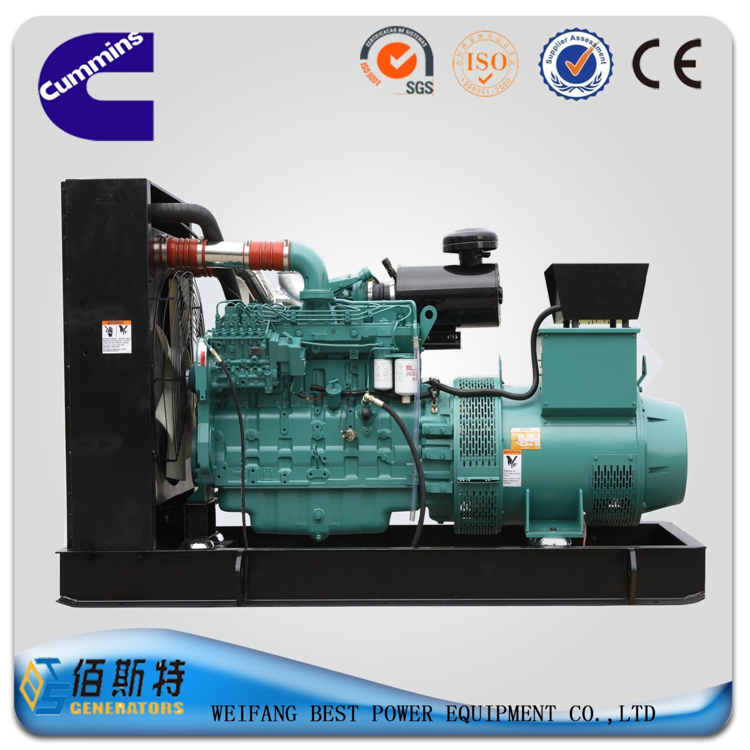 China 400kw Cummins Silent Diesel Genset for Sale with Stamford