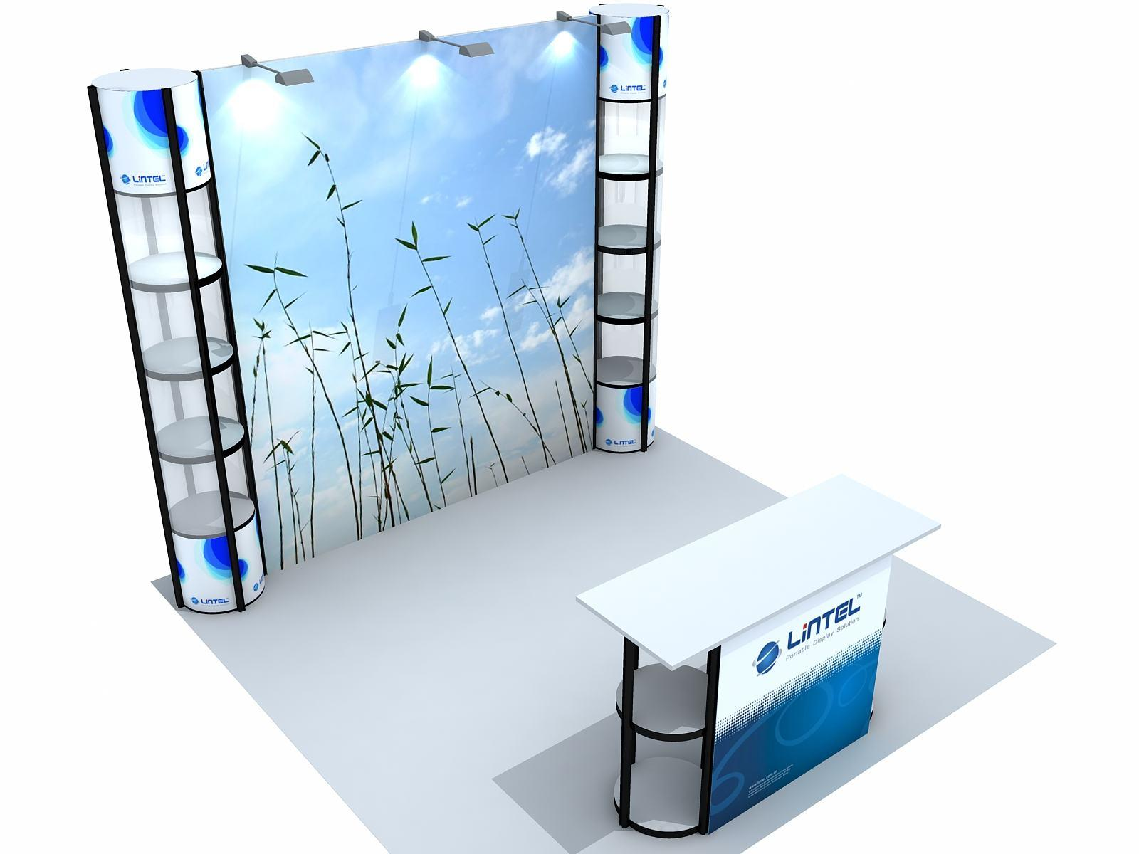 Portable Modular Exhibition Stands : China recyclable exhibition stand booth