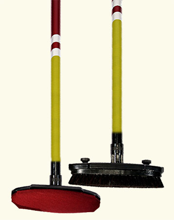 Curling broom head