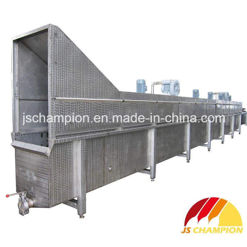 Poultry Water Spray and Gas Bubble Type Scalding Machine for Poultry Slaughterhouse