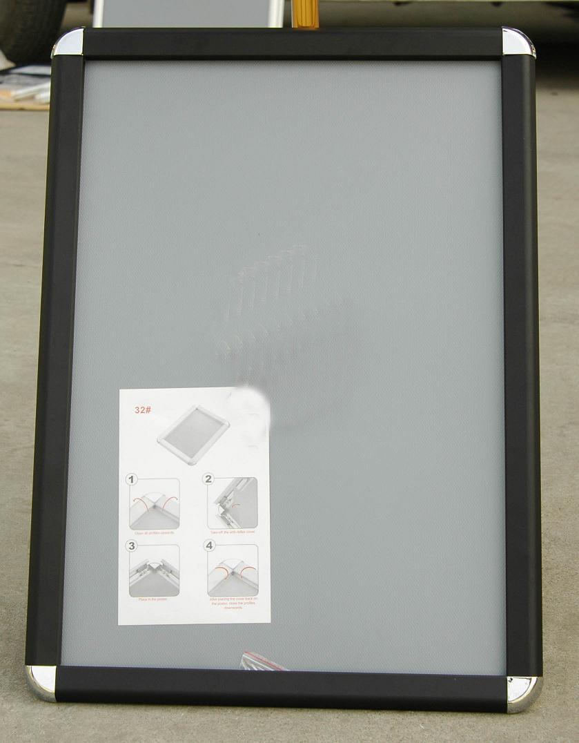 china a3 black aluminium snap frame china snap frame. Black Bedroom Furniture Sets. Home Design Ideas