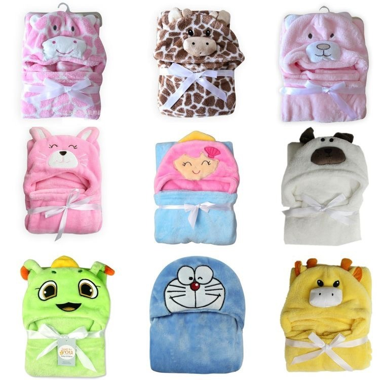 Kids Children Animal Bath Towel Bathrobe Wrap Cloak Bedding