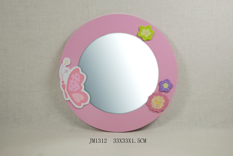 Hot Sale Wooden Mirror in MDF with Butterfly Design