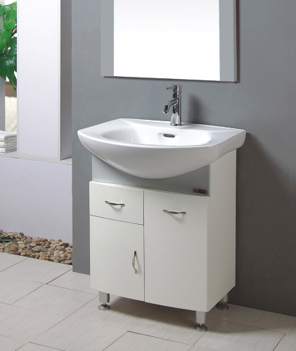 China Pvc Bathroom Furniture Pvc Bathroom Wash Basin Cabinet Waterproof Bathroom Vanity T6401