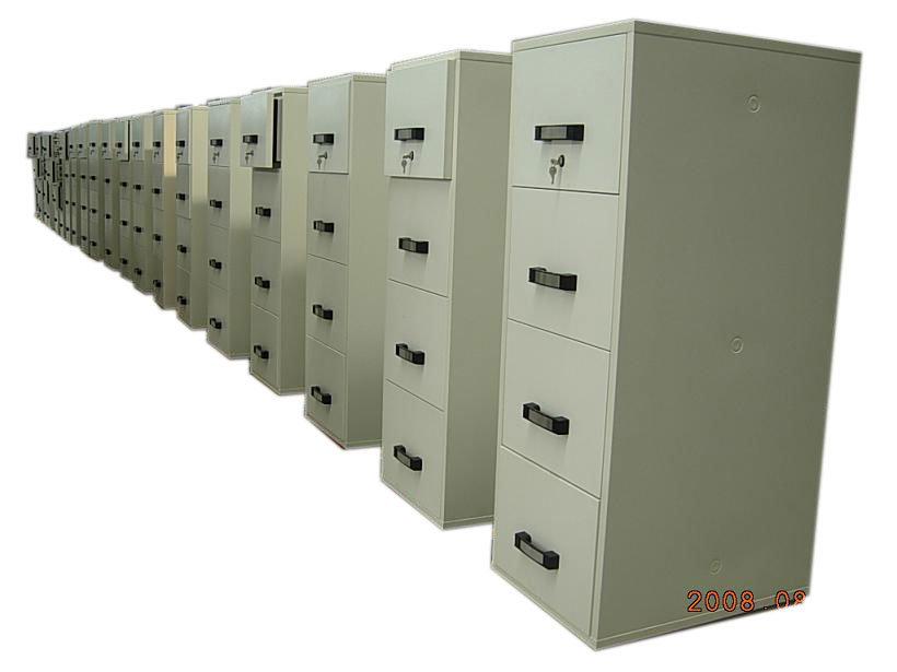 UL 2 Hours Fire Resistant Cabinet (FRD824-II-4001) , Fireproof Vertical Metal Cabinets