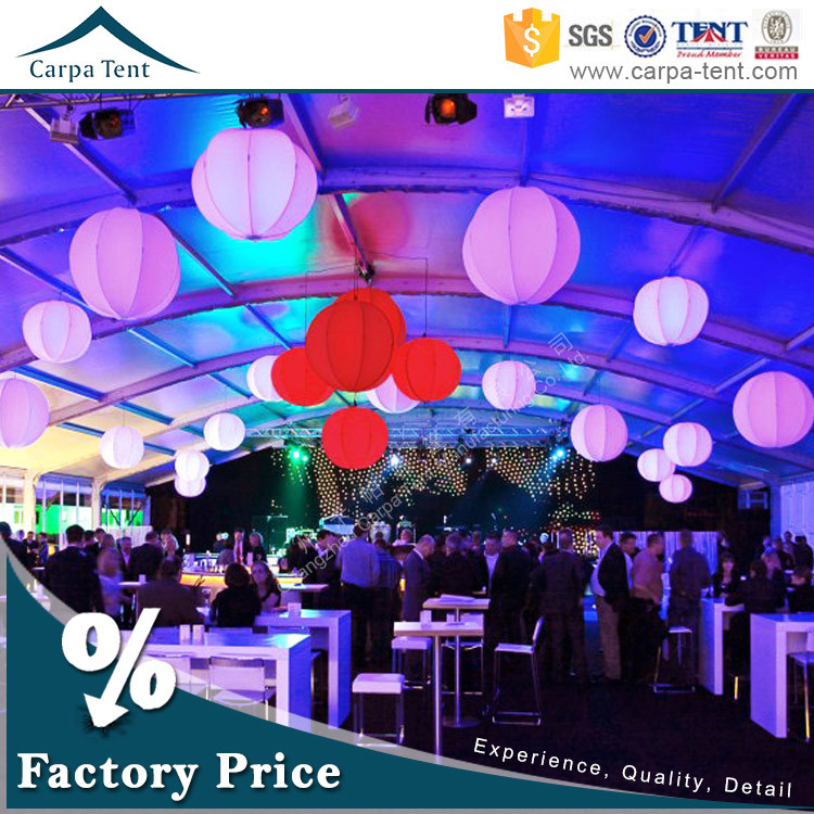 Movable Commercial TFS Dome Foof Event Canopy Tent with Luxurious Decoration