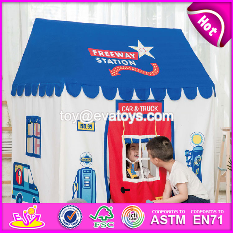 Boys Play Tent Large Freeway Station Playhouse for Boys/Girls Indoor/Outdoor W08L009