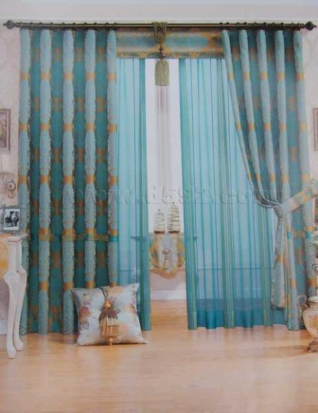 China Motorized European Style Curtains China Motorized