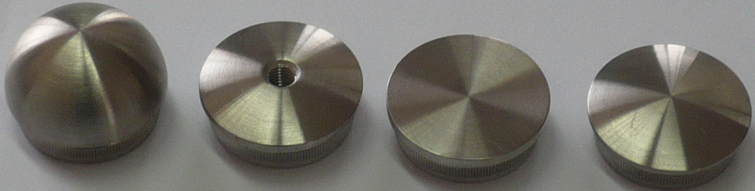 China stainless steel handrail end cap f