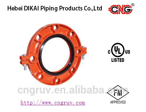 FM UL Approved Ductile Iron Grooved Fittings Split Flange Coupling
