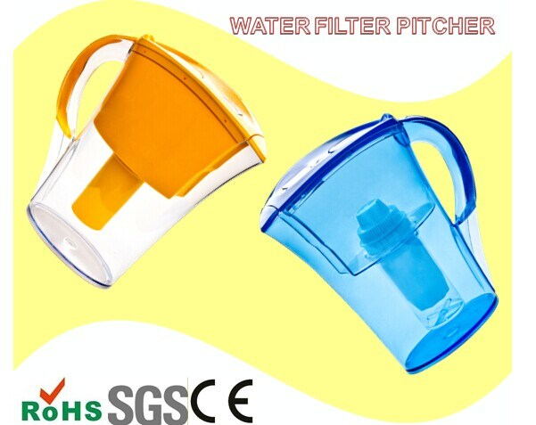 Long Lifespan Plastic Pitcher Water Filter Activated Carbon Pure Life Water