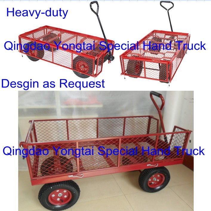 Steel Mesh Garden Wagon Cart