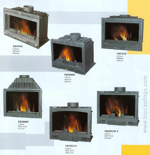 United States Stove Cast Iron Logwood Stove, Large - 3192571