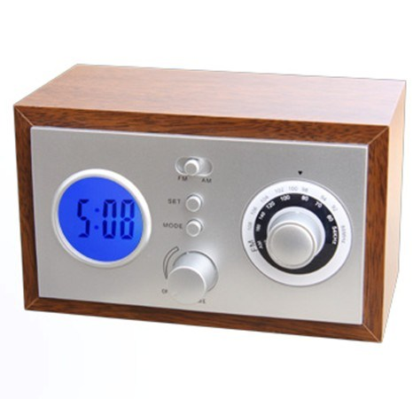 china wooden radio with alarm clock lr 889 china wooden radio alarm clock fm radio radio. Black Bedroom Furniture Sets. Home Design Ideas