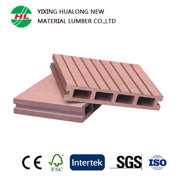 Hollow WPC Decking Wood Plastic Composite Outdoor Flooring (129)