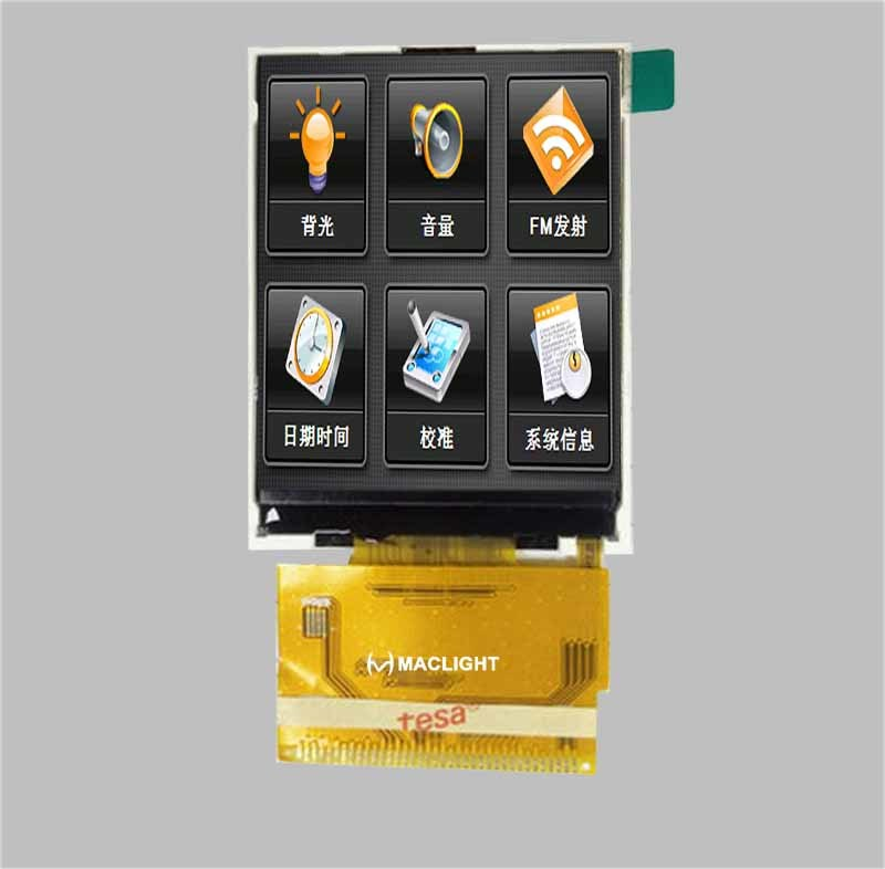 2.8 Inch TFT LCD Module with 240X320 Resolution MCU Interface
