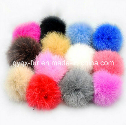 Fox Fur POM Poms with Button