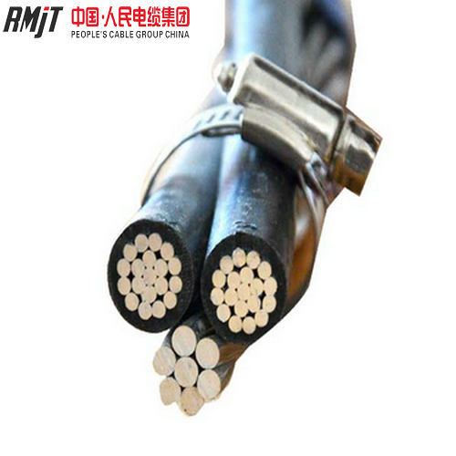 Al Conductor XLPE Insulated AAAC or ACSR Neutral Service Drop Duplex ABC Cable