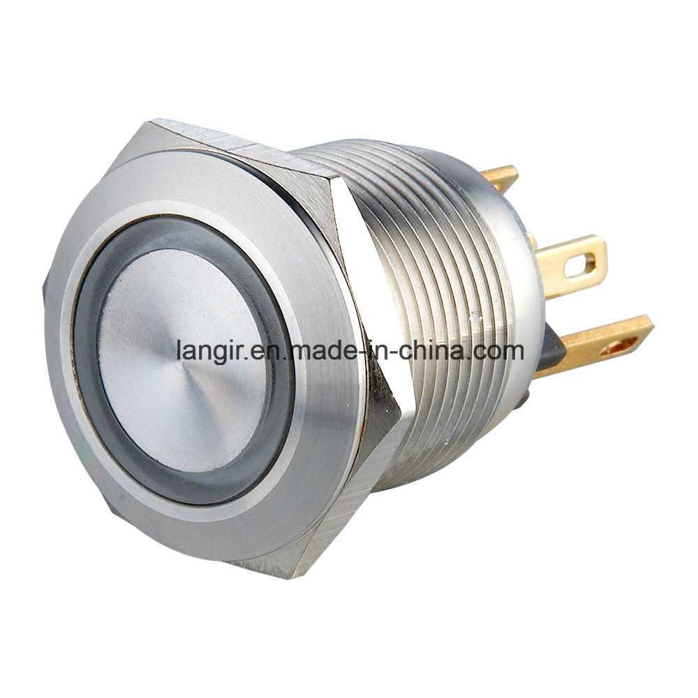 22mm Micro Trip Stainless Steel Momentary Normal Open Metal Switch
